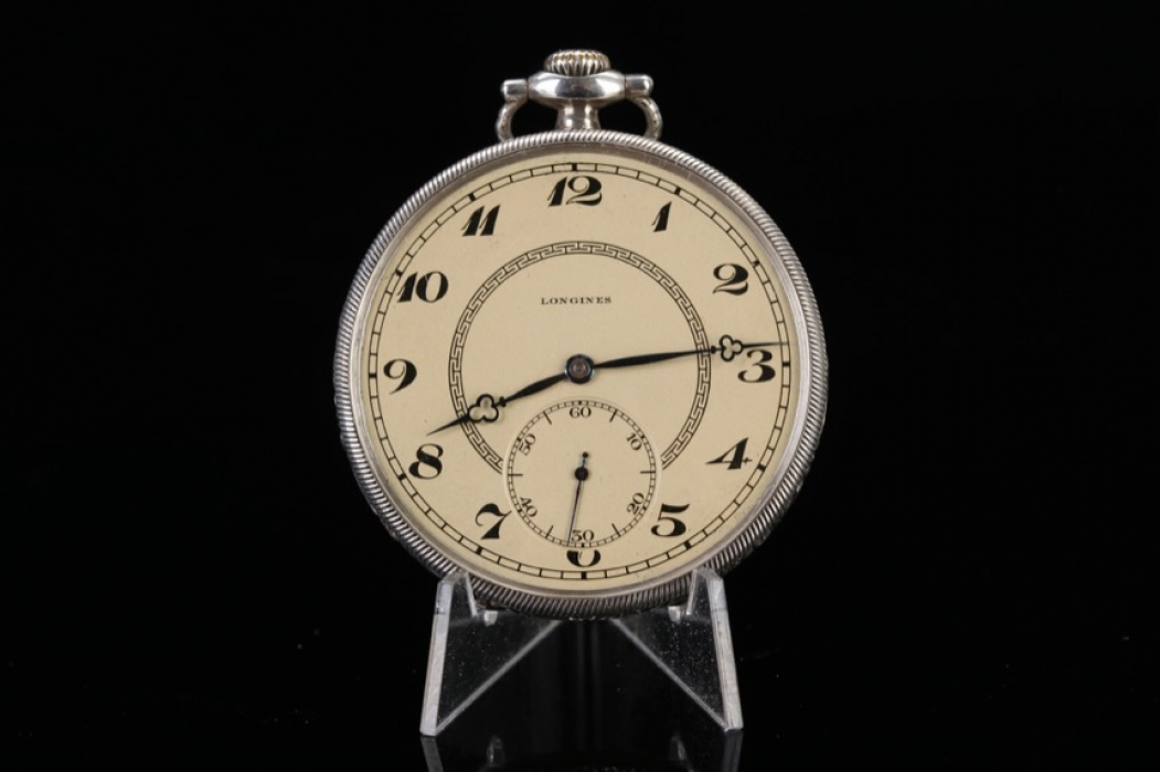 Longines - Silver pocket-watch from the 20s