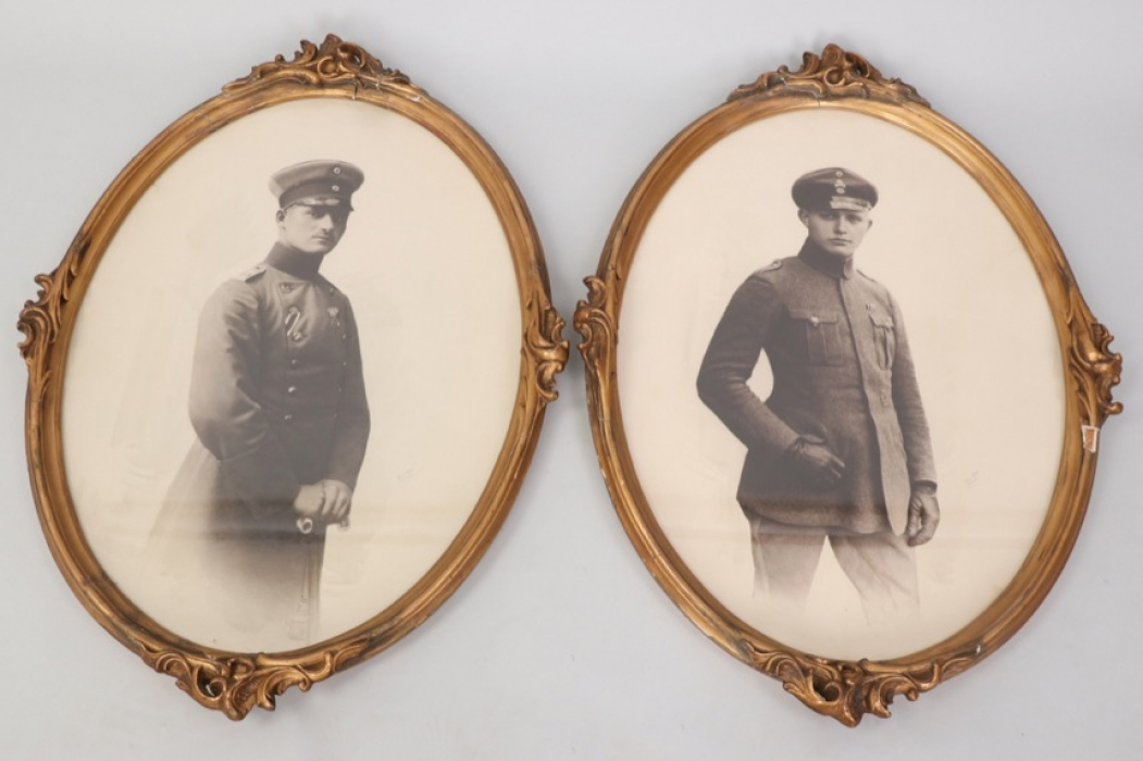 Saxony - two framed photos of Prinz Bernhard/Georg & Großherzog Wilhelm Ernst