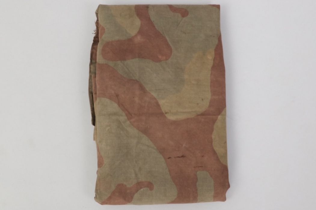 """Heer/Waffen-SS WWII camo Zeltbahn with """"express"""" tag - Italian pattern"""