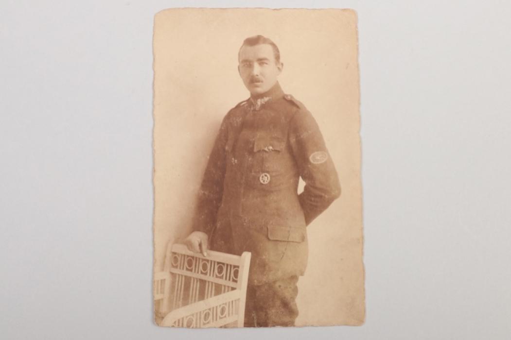 WWI MG gunner portrait photo