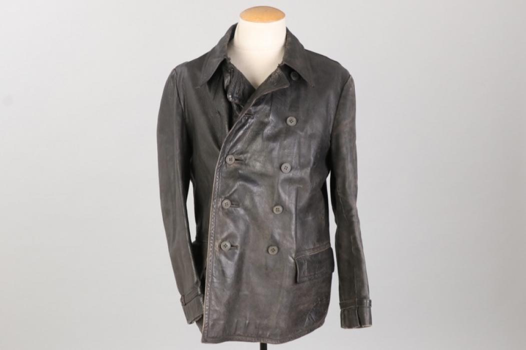 Kriegsmarine leather jacket - Rb-numbered