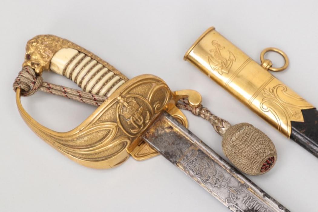 Kaiserliche Marine presentation sabre with damask blade - WKC