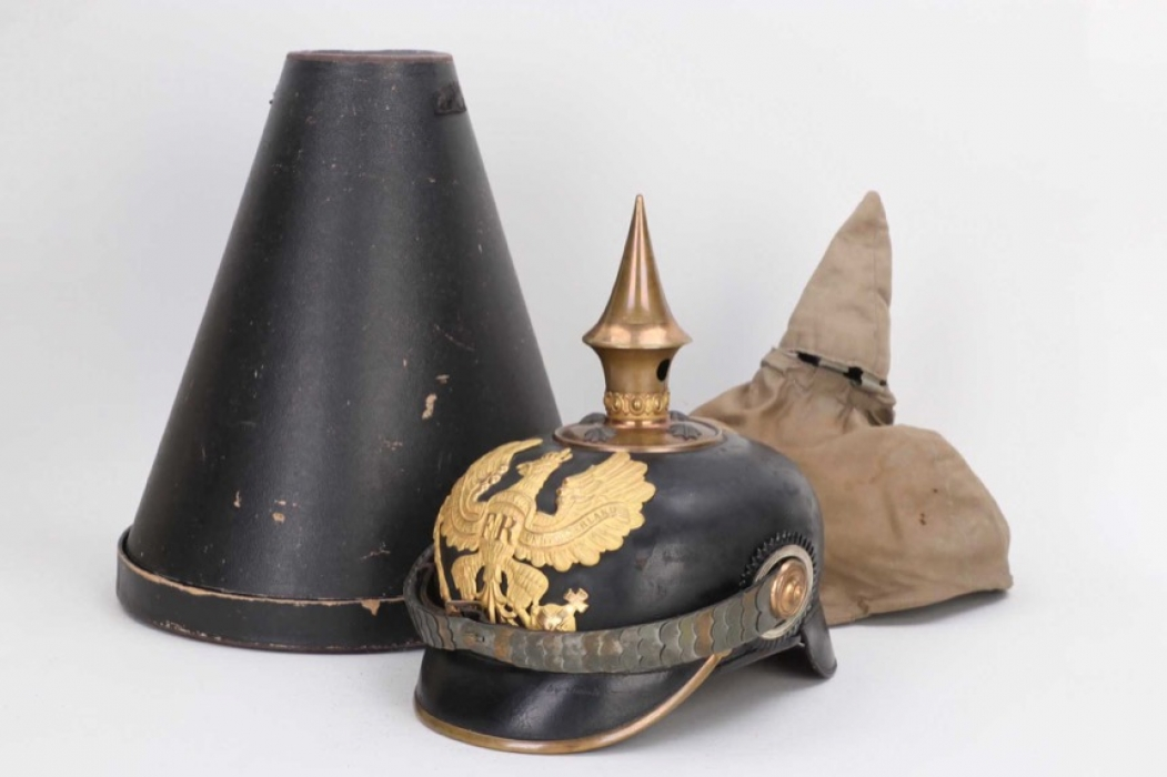 Prussia - M1886 officer's spike helmet with camo cover & case