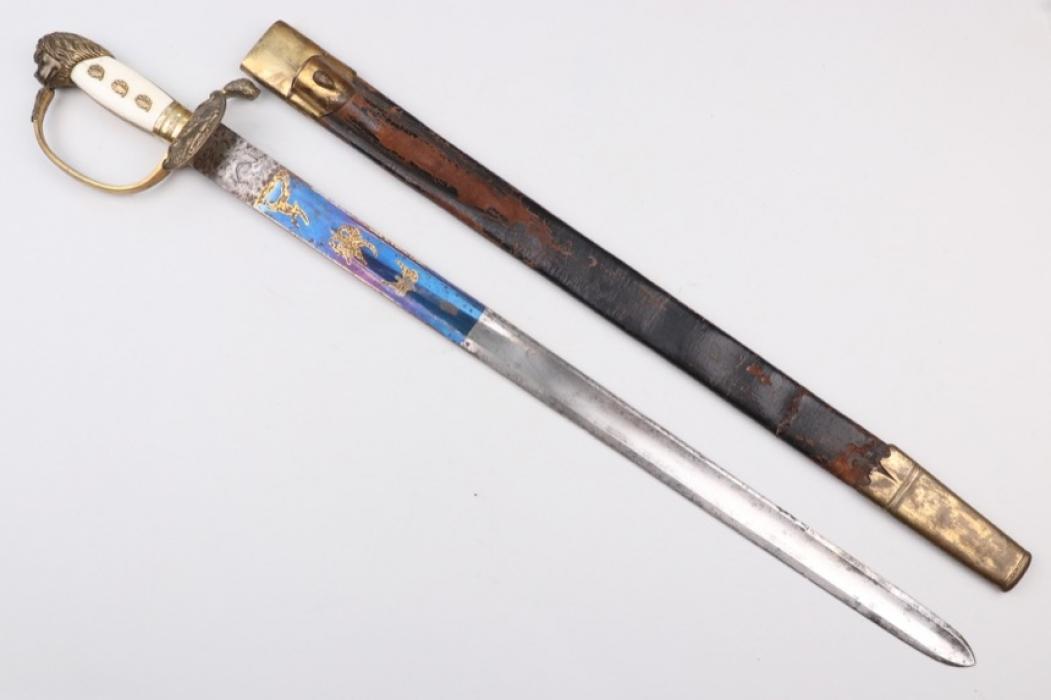 """Impressive forestry dagger """"Hirschfänger"""""""