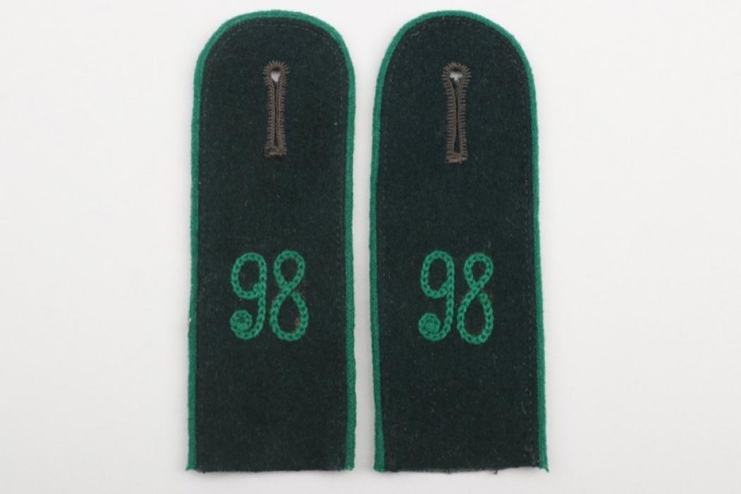 Lt. Pöhlmann - Geb.Jäg.Rgt.98 shoulder boards EM