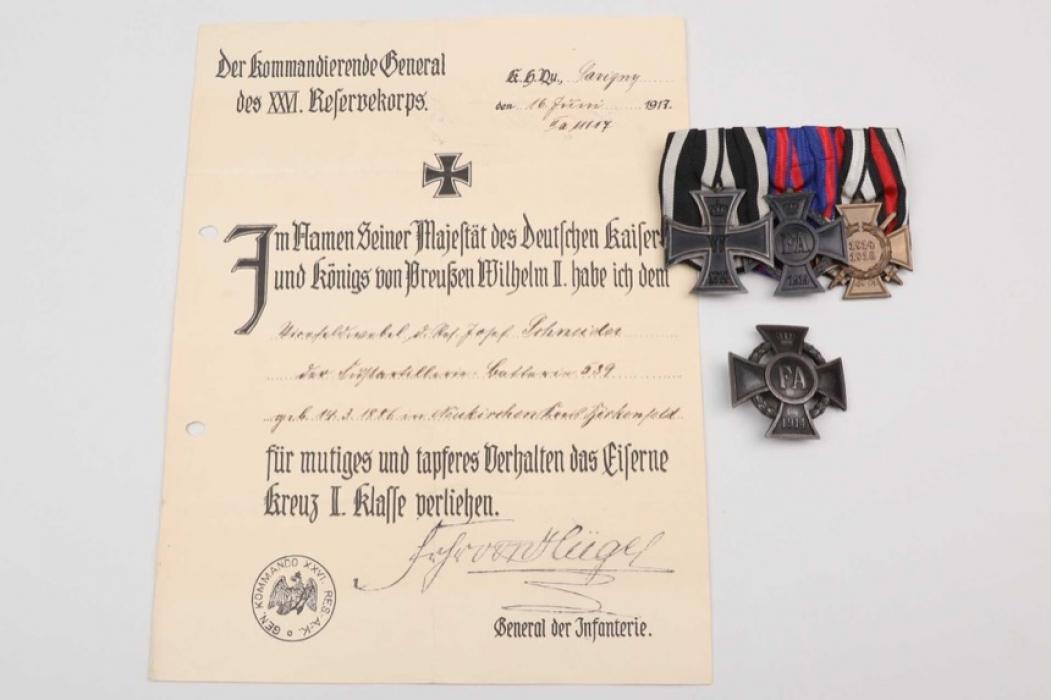 1914 Iron Cross winner grouping