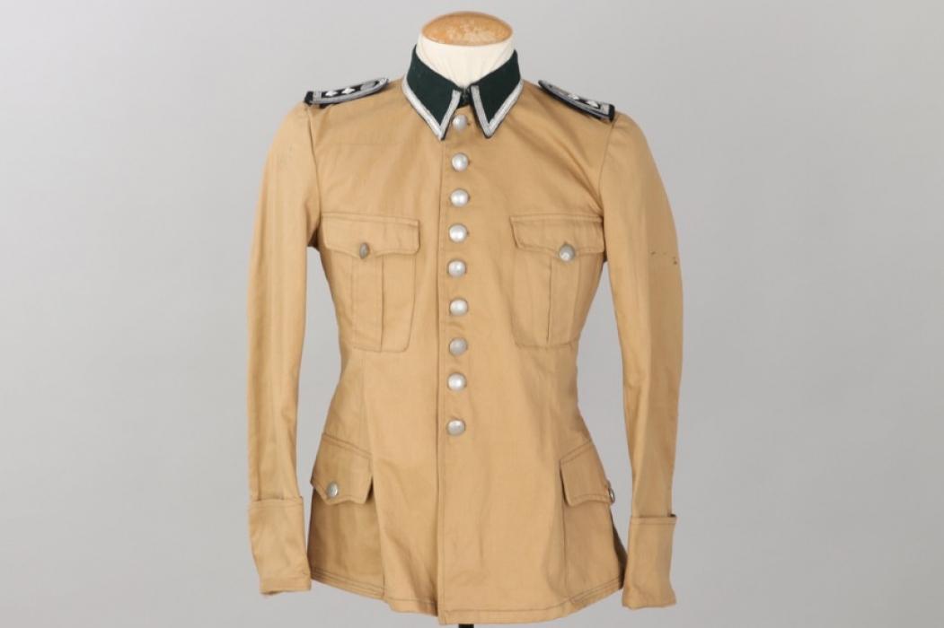 """SS-Hscha. Lösch - Waffen-SS tropical """"South Front"""" field tunic"""