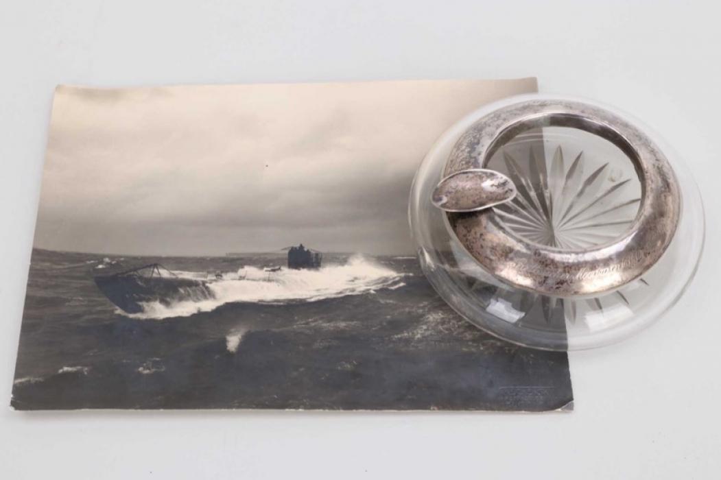 Fischer, Waldemar v. - UB 22 engraved ashtray + UB 126 photograph