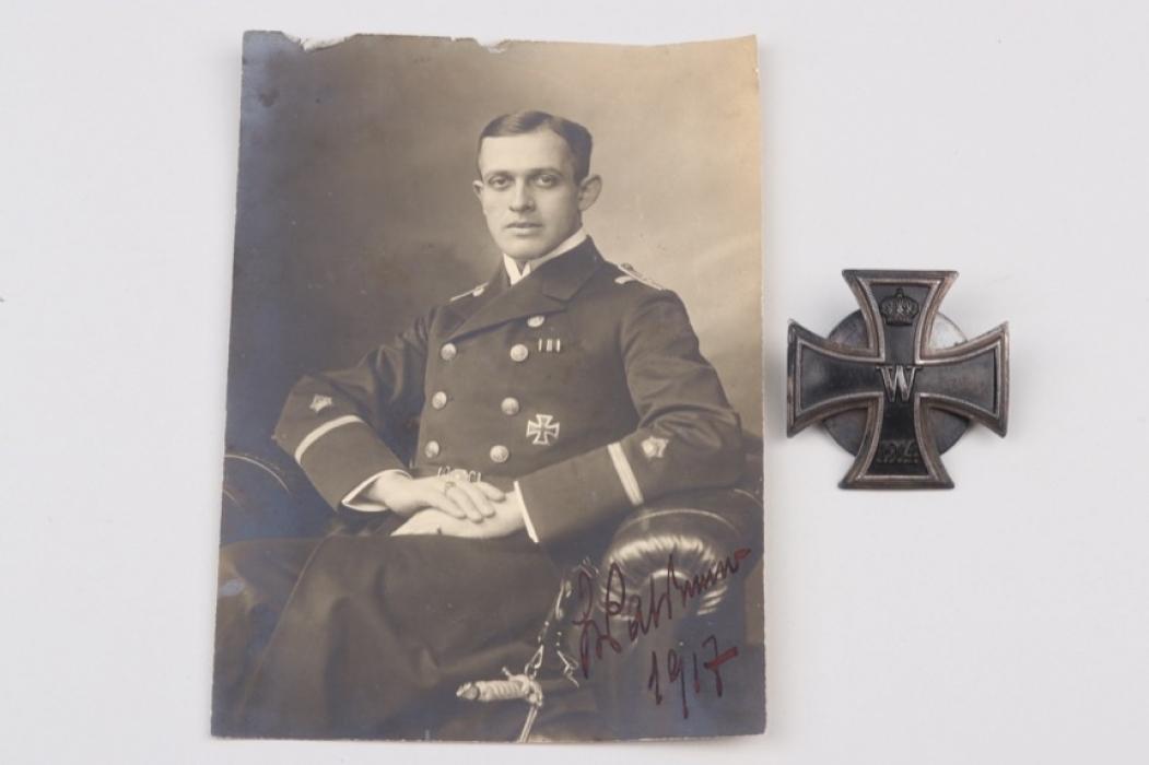 Fischer, Waldemar v. - 1914 Iron Cross 1st Class with photo proof