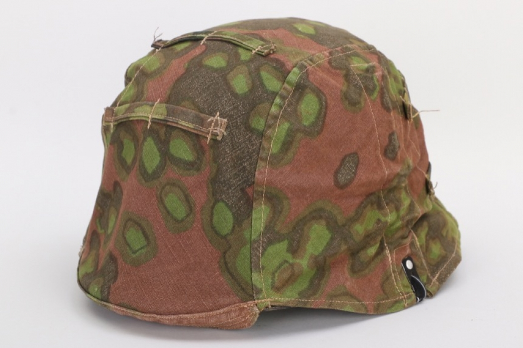 "Waffen-SS reversible ""oak leaf"" camo helmet cover"