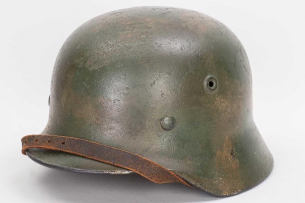 Luftwaffe M40 camo helmet - Q62