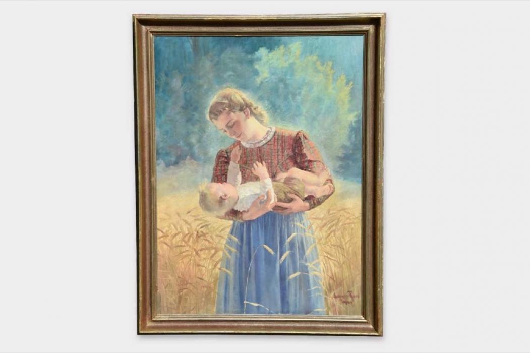 """Sperl, Lothar - """"Mutter mit Kind"""" oil"""