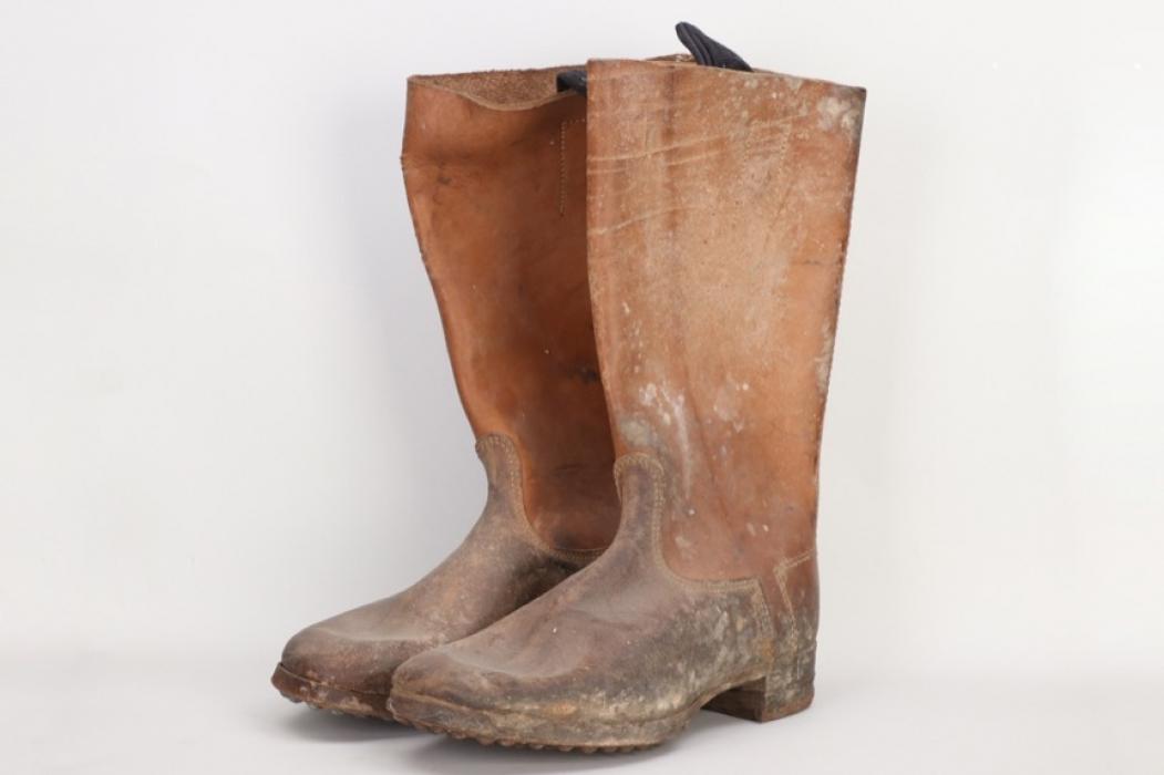 Depot Grafenreuth - Waffen-SS field boots - unissued