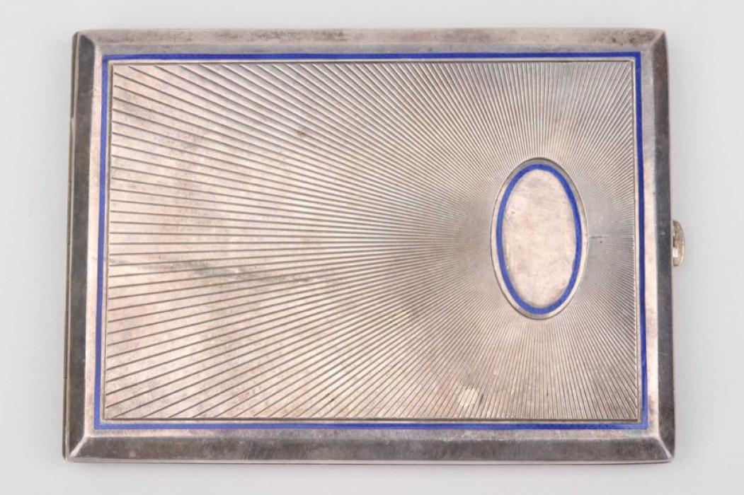 Generalmajor Dänner silver cigarette case - Pour le Mérite winner