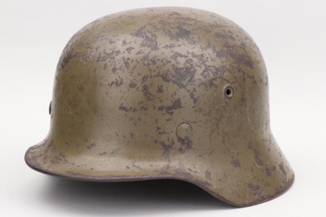 "Wehrmacht M40 ""South front"" camo helmet - EF62"