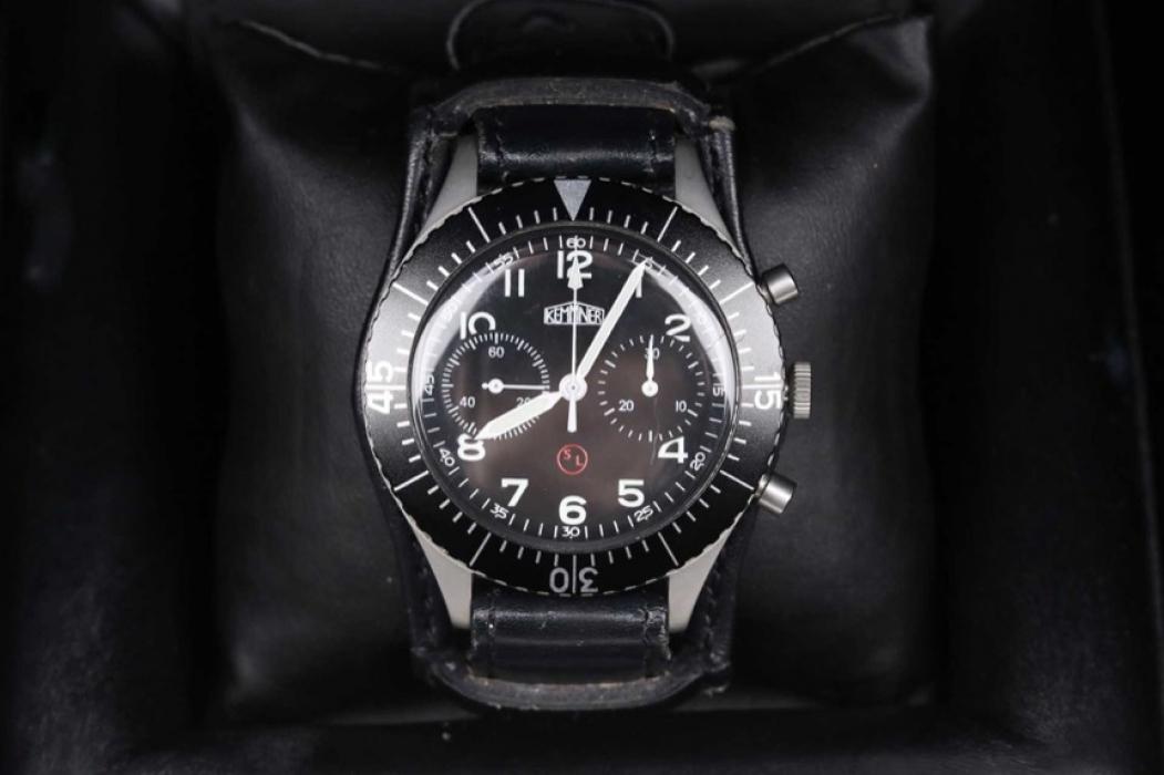Kemner - Bundeswehr design chronograph with manual winding & box