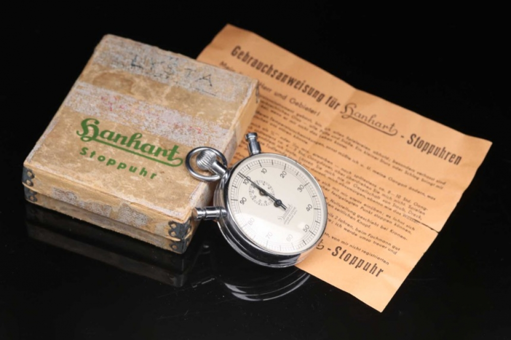 Hanhart sopwatch with box & papers