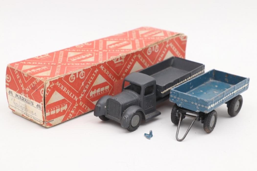 Märklin - Military truck & trailer with box