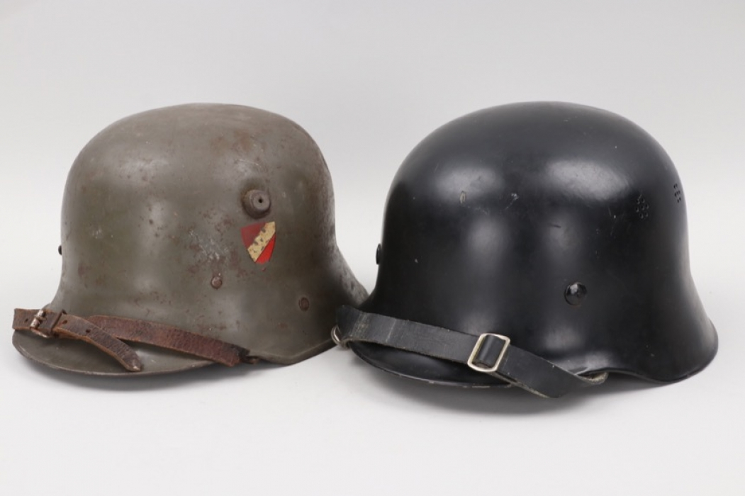 Period time children's helmet / Postwar fire brigade helmet