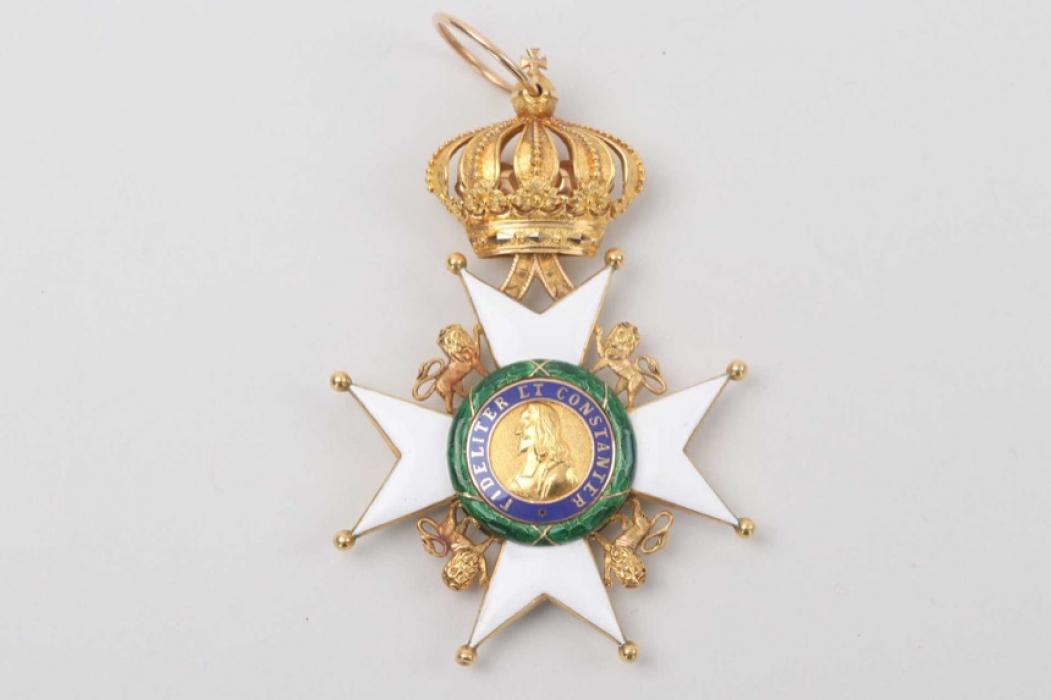 Saxe-Ernestine House Order, Commander's Cross