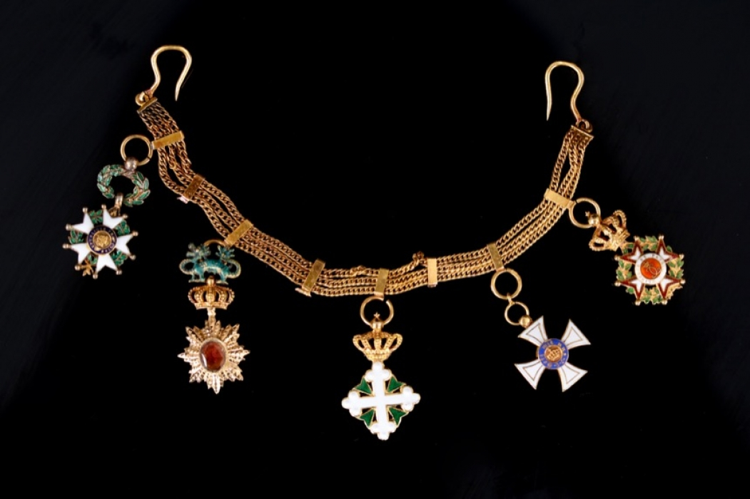 Miniature Chain with Crown Order 3rd Class