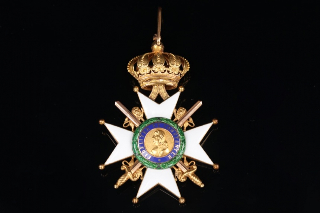 Saxe Duchies - Ernestine House Order Commander Cross with Swords
