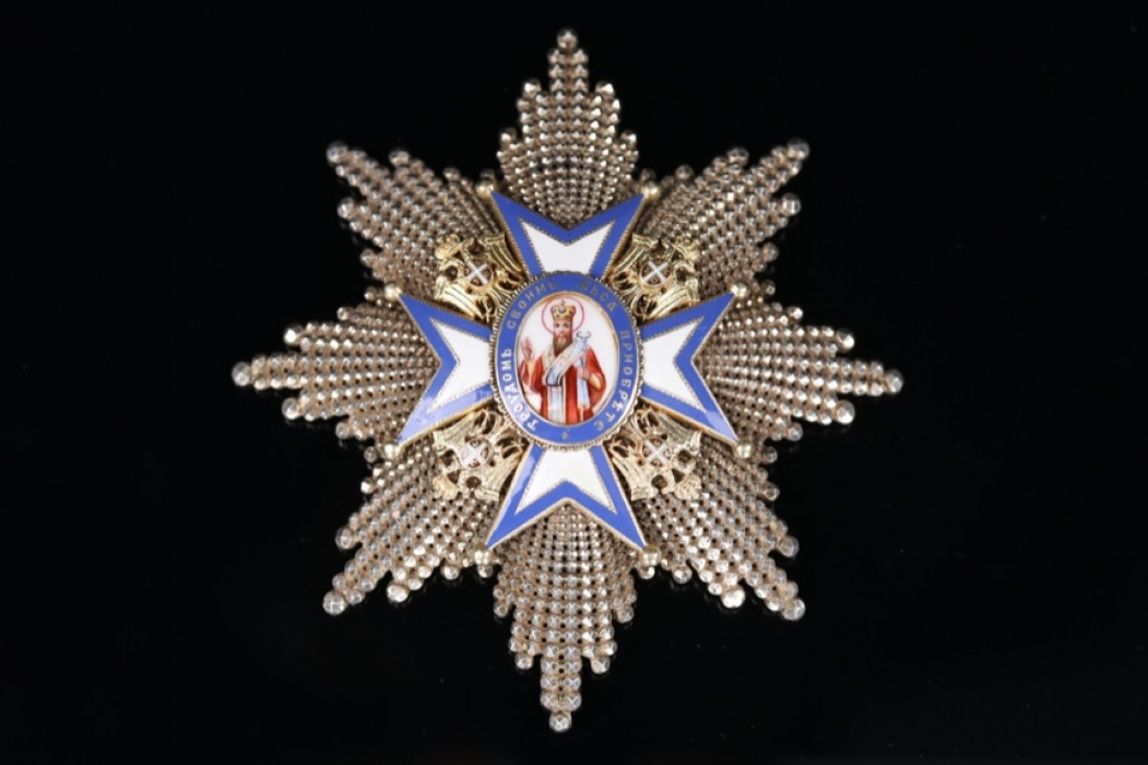Serbia - Order of St. Sava Grand Cross Breast Star, 1st type