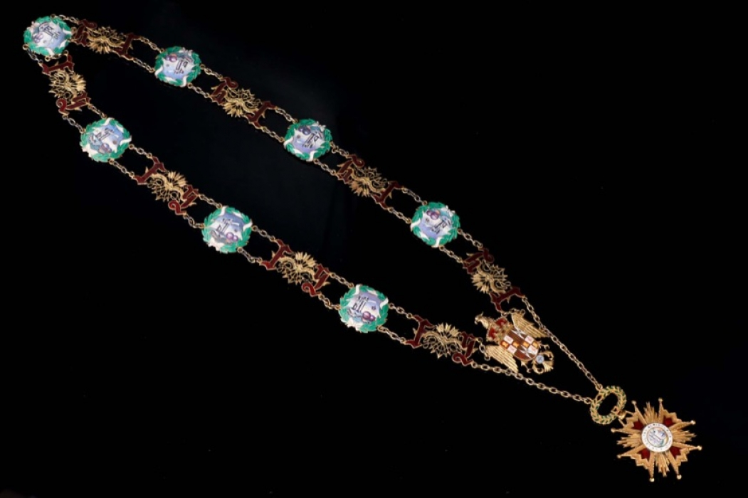 Spain - Order of Isabella the Catholic - Collar chain with Badge