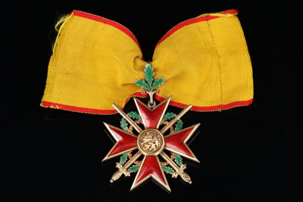 Mecklenburg - Griffin Order Commander Cross with Laurel Leaves and Swords