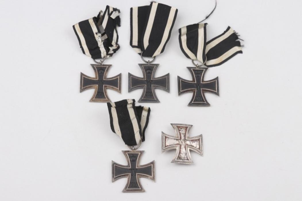 1914 Iron Cross 1st Class & four 1914 Iron Crosses 2nd Class