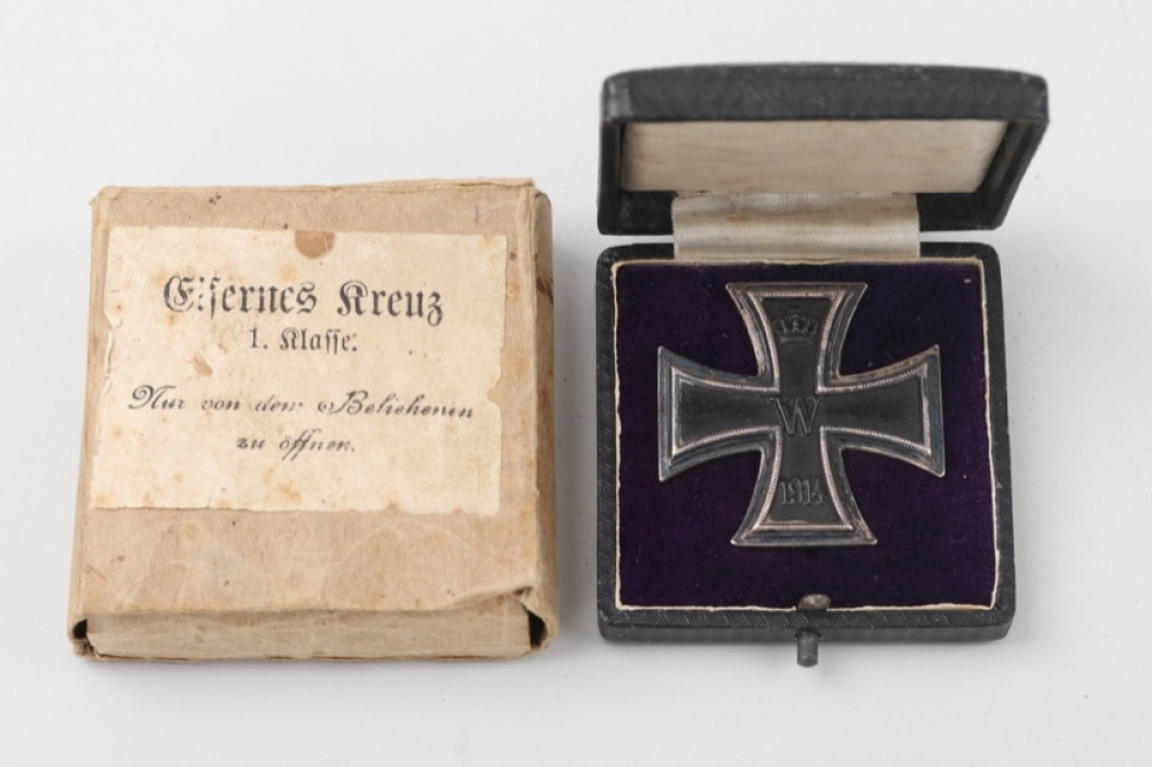1914 Iron Cross 1st Class in case and outer carton - KO