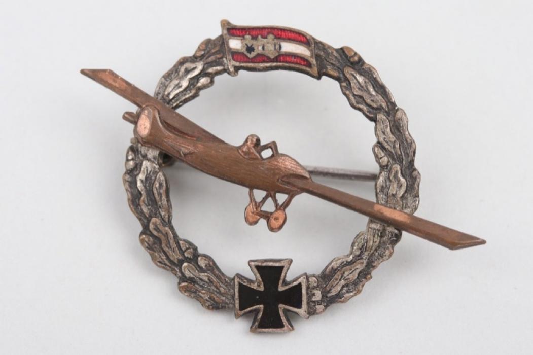WW1 K.u.K. patriotic badge of the Aviation Troops