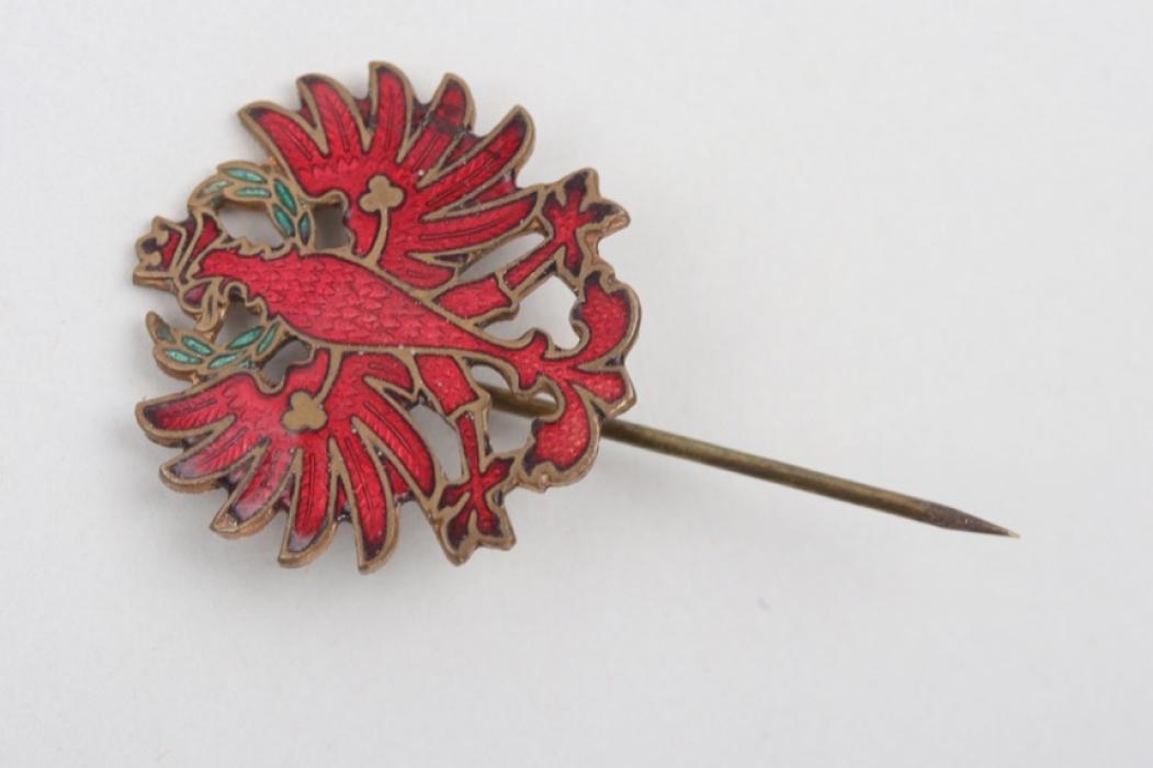 Tyrol patriotic pin - enameled
