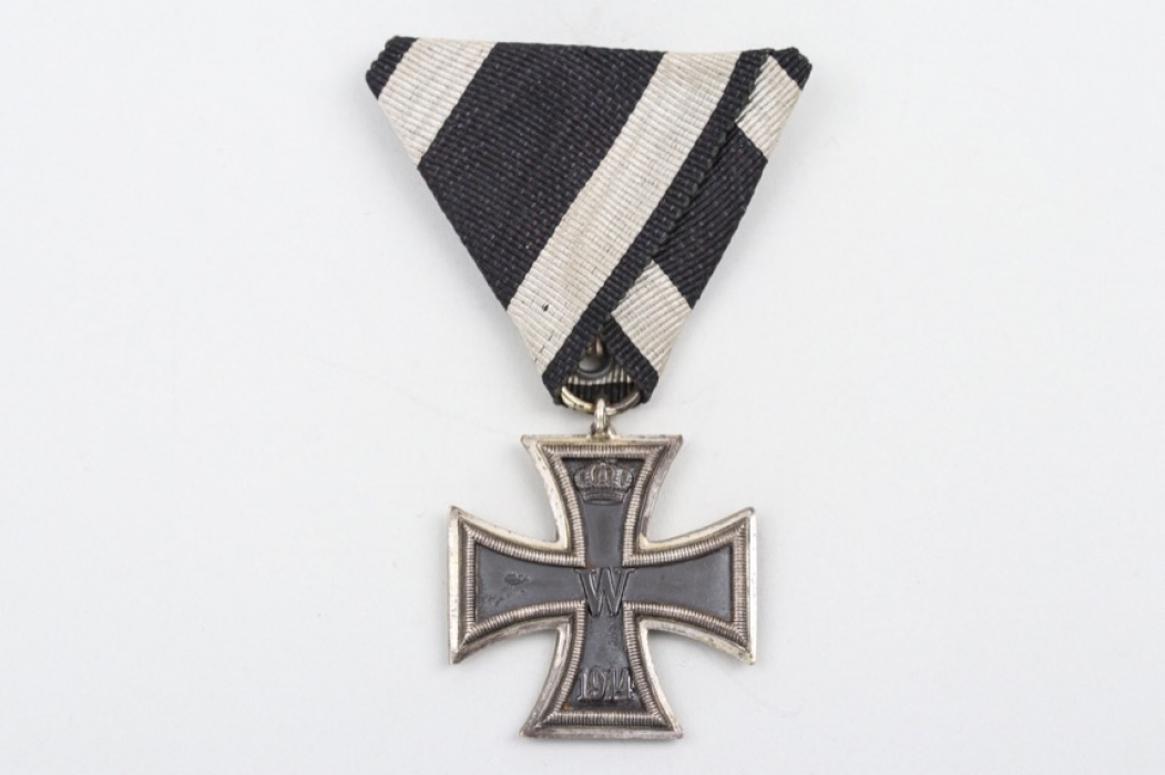 "1914 Iron Cross 2nd Class on triangular ribbon - ""Prinzengröße"""