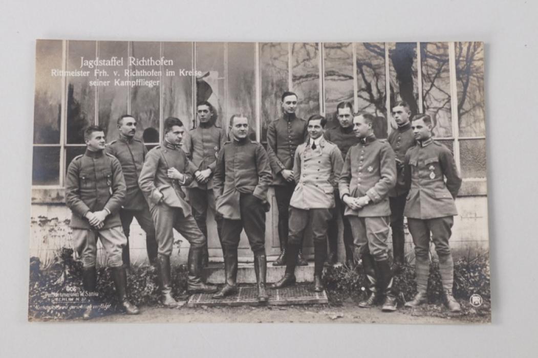 "WWI ""Jagdstaffel Richthofen"" postcard (group photo)"