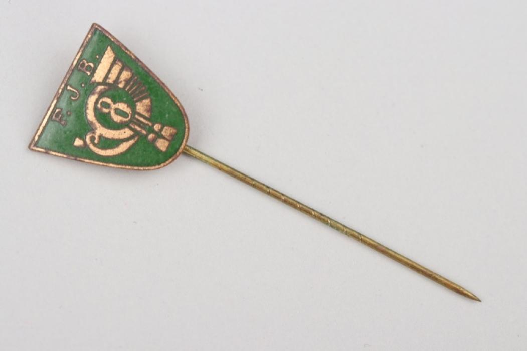 Enamel membership badge of the k.u.k. Feldjägerbataillon No. 8