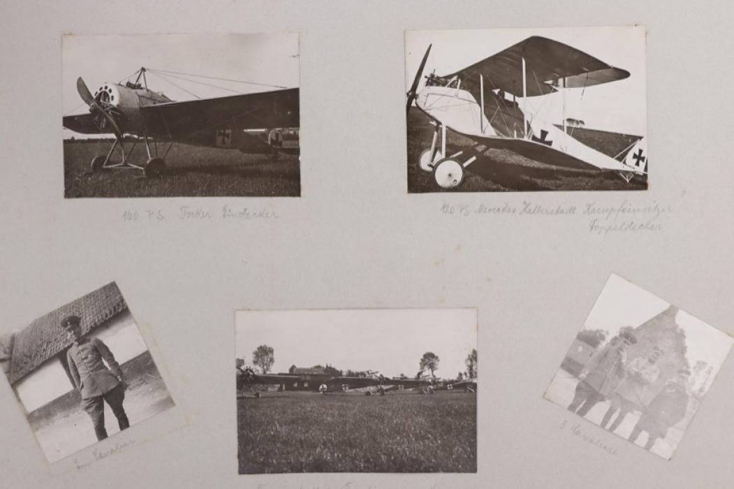 WWI Flieger-Abt.32 pilot's photo album (photo of Immelmann's funeral)