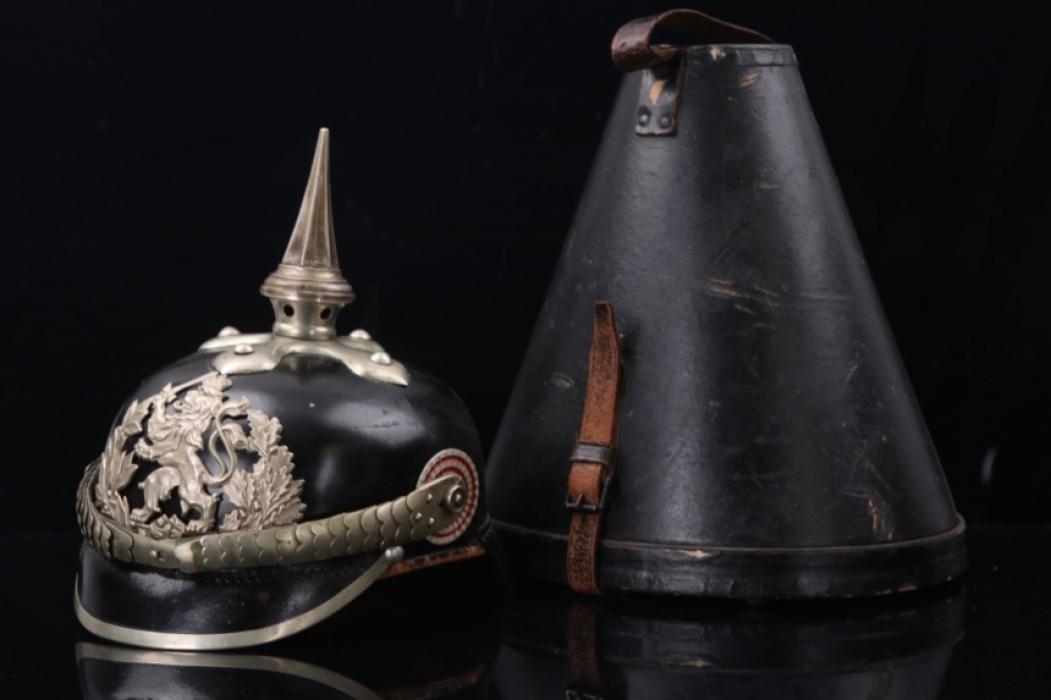 Hessia - Dragoner NCO's spike helmet with case