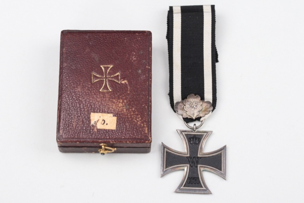 """Iron Cross 2nd Class 1870 with Oak Leaves and Jubilee Number """"25"""""""