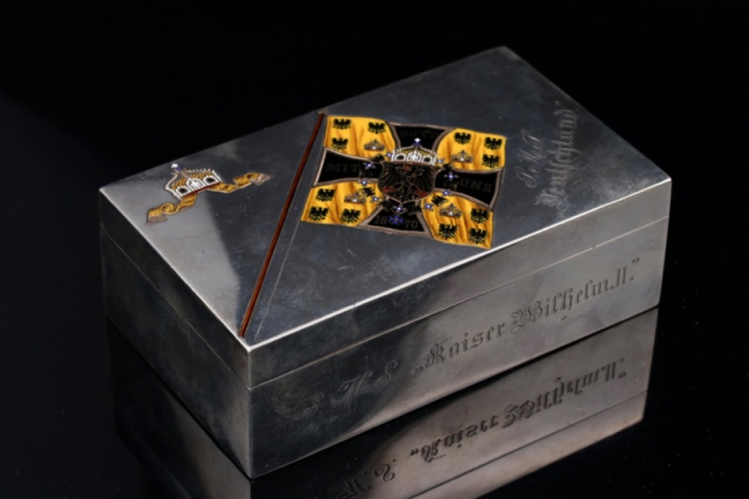 Prussia - important cigarette case given from Prince Adalbert of Prussia