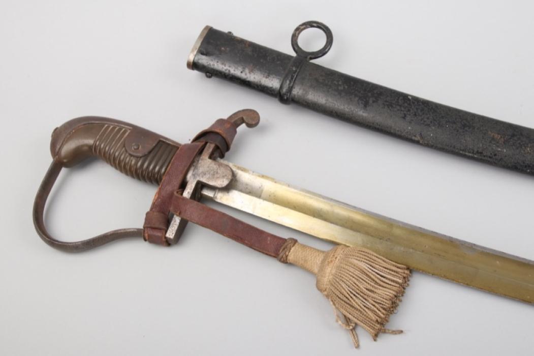 Prussia - artillry sabre M 1848 for EM/NCO with sash