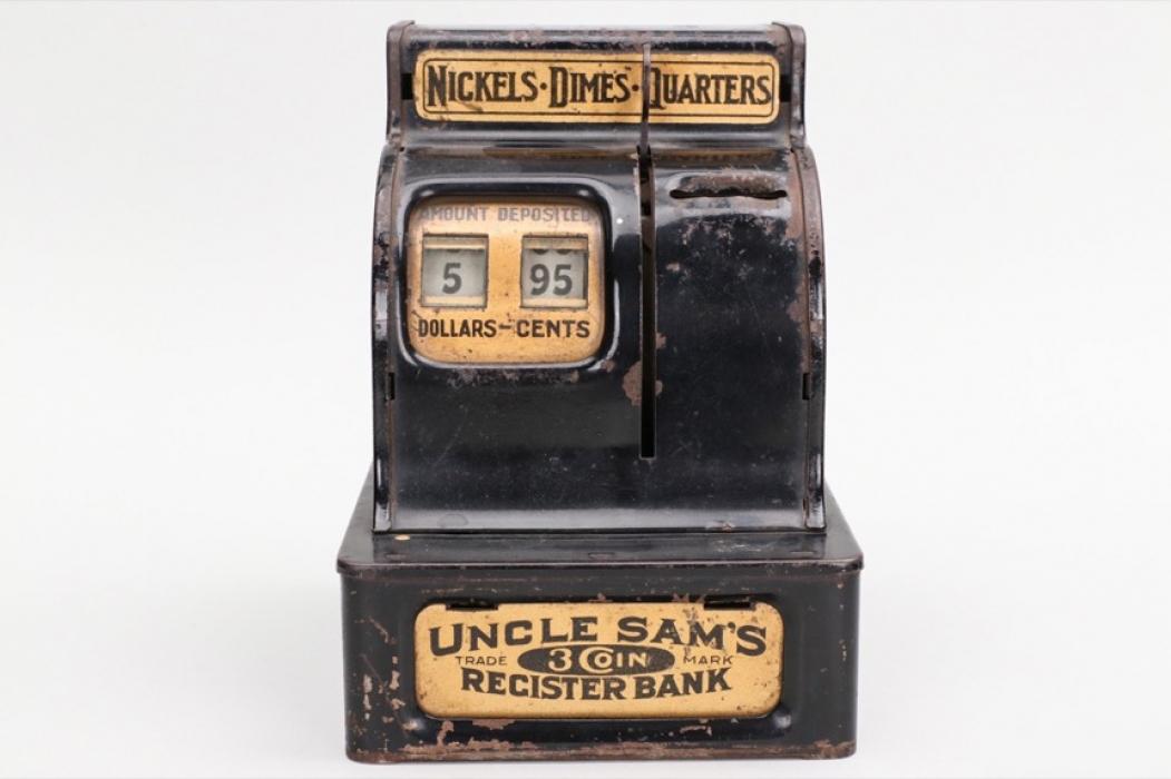 """Antike Spardose """"Uncle Sam's Register Bank"""""""