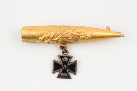 WW1 enamel Iron Cross on bullet