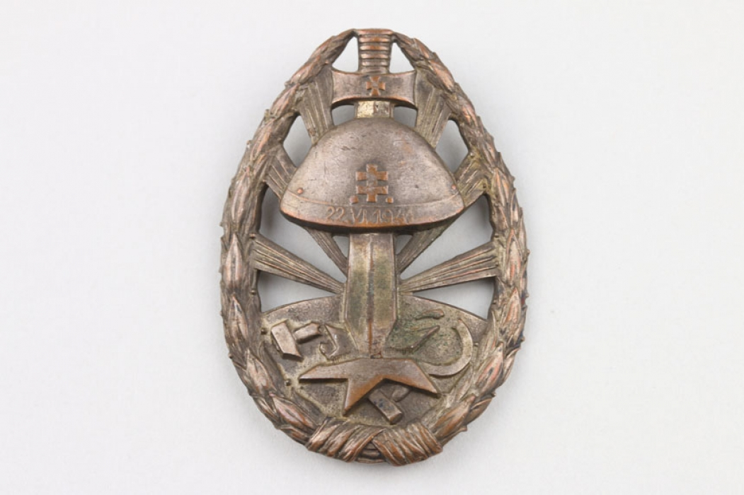WW2 Slovakian Eastern Front Service Badge of Honour