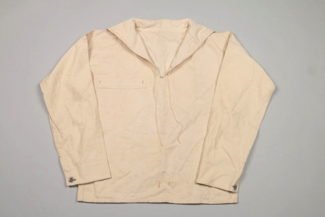 Kriegsmarine white work drill shirt