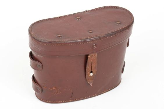 Third Reich brown leather case for binoculars