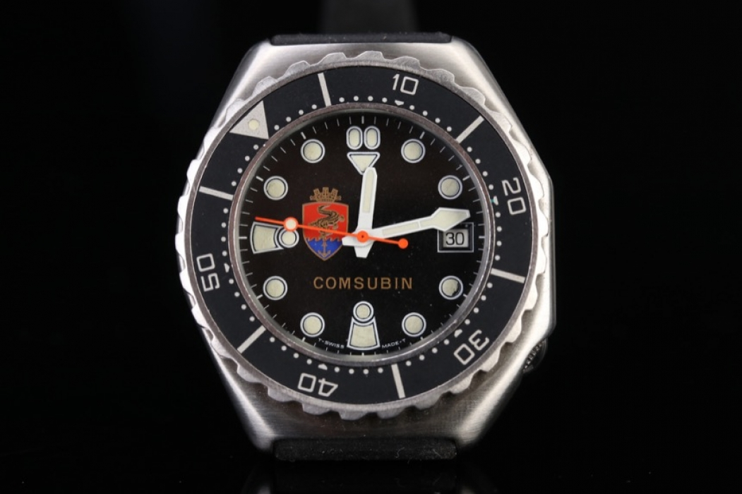 Comsubin - wristwatch for military elite divers from the 70s