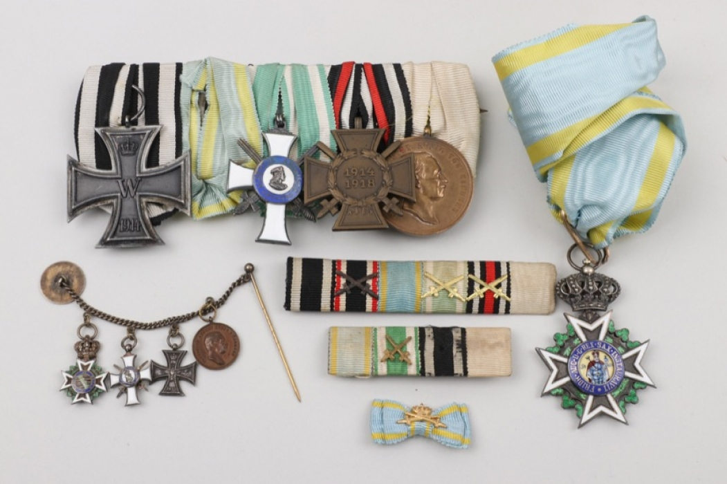Saxony - Military Order of St. Henry recipient medal grouping