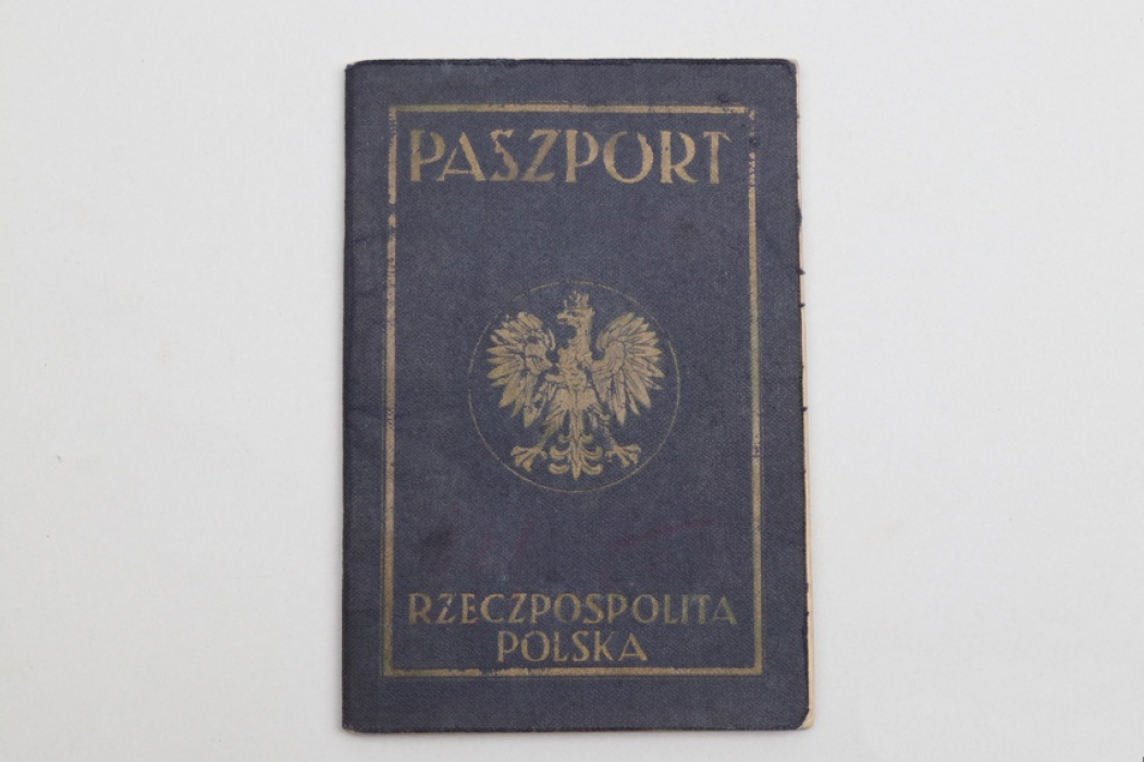 Polish passport for a lady 1936
