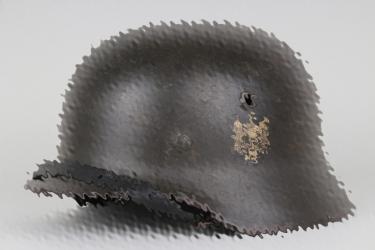Heer M40 double decal helmet NS64